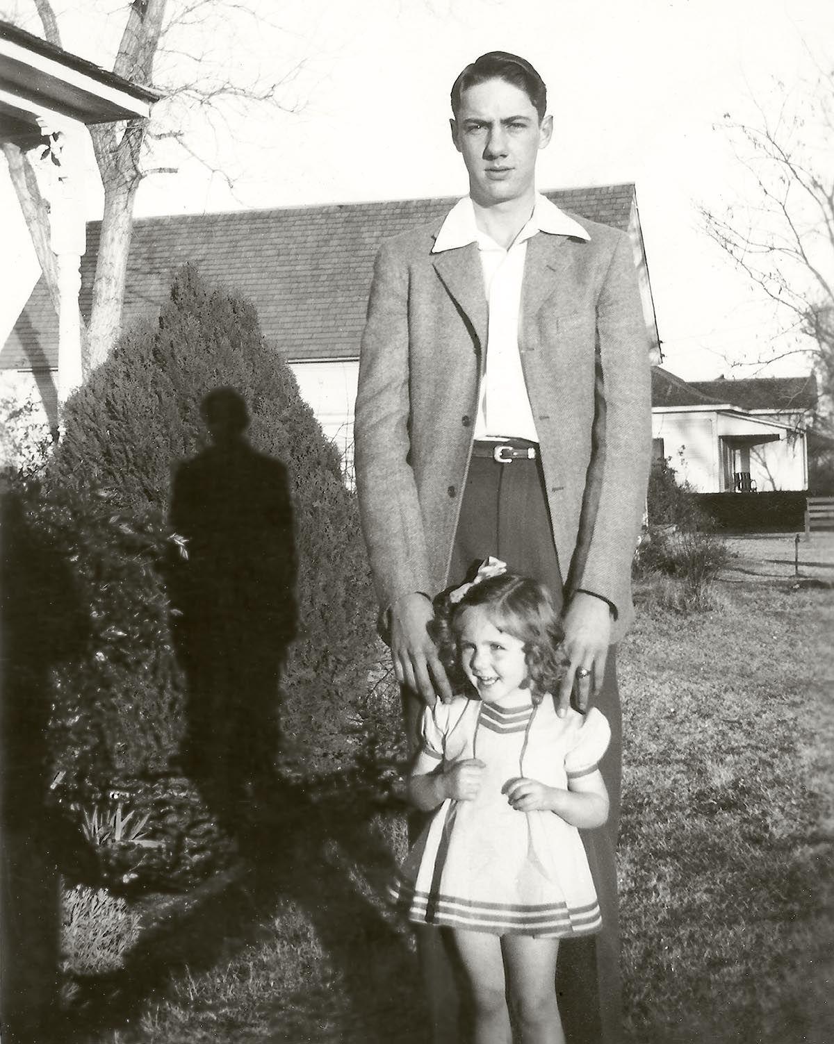 Maurice and Sandra Paschall, about 1942, Bridgeport, Texas