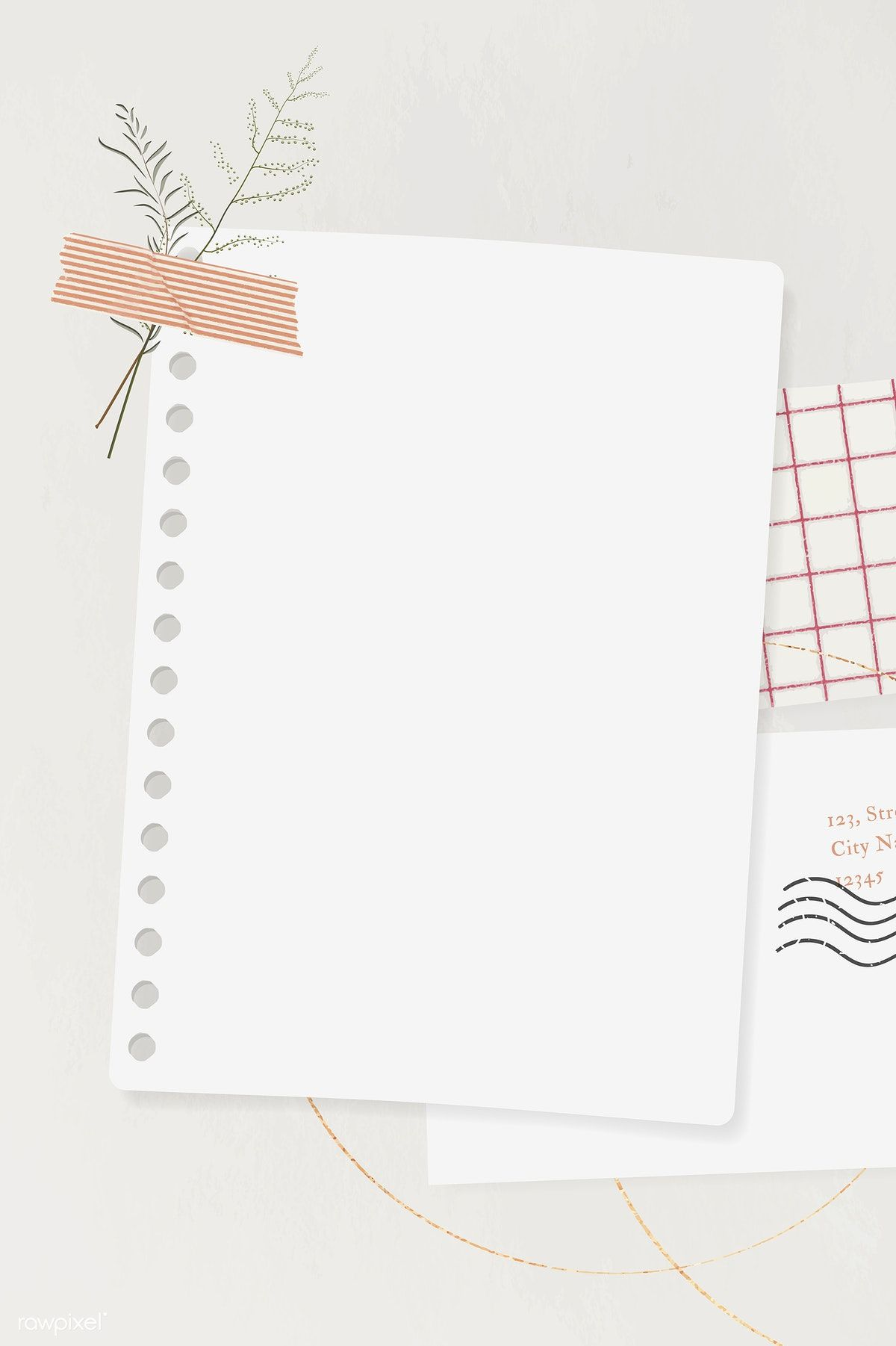 Download premium vector of Blank paper with washi tape template vector by Ning about notepaper, flowers collage, taped poster, note leaf, and collage paper template 1205014