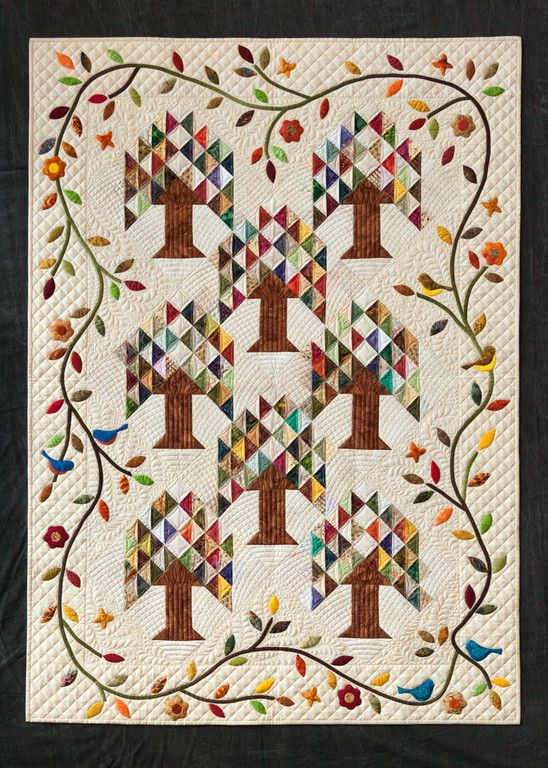 Tree Of Paradise Opportunity Quilt Old Fashioned Quilts Quilts
