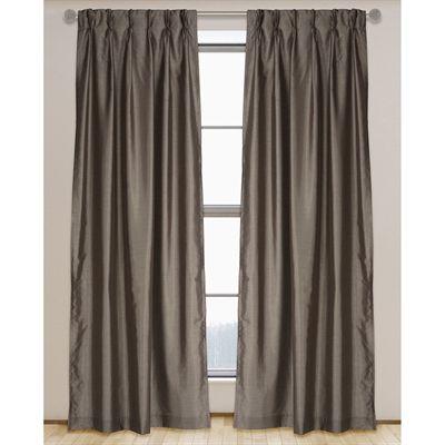 Lj Home Fashions Curtains Drape 0057 Zoi Faux Silk Lined Pinch Pleat Hidden Tab 95 In Curtain Panels Panel Curtains Drapes Curtains Pinch Pleat Curtains