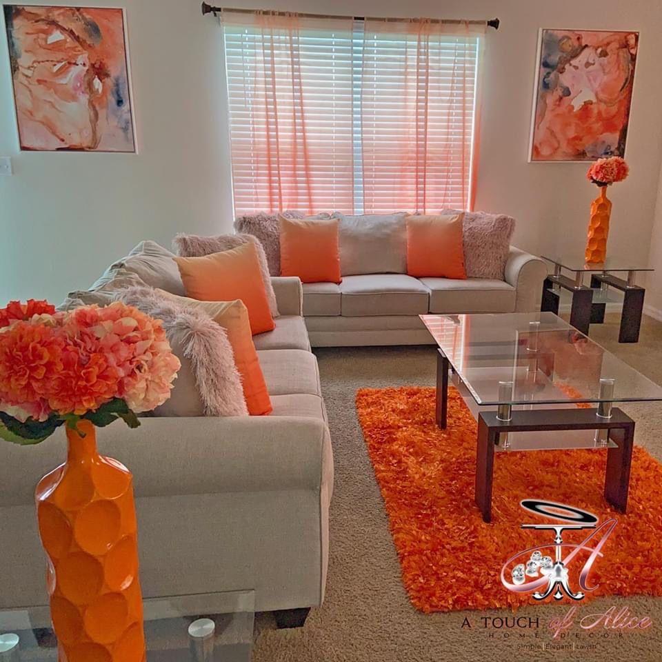 Pin By Niseyy On Decor Ideas Decor Home Living Room Living Room Decor Colors Living Room Orange