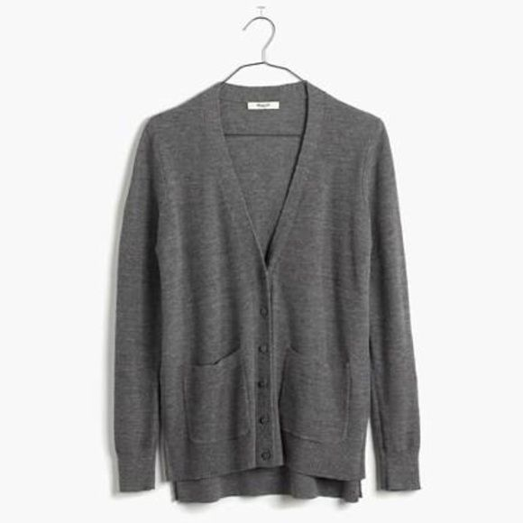 Madewell Grey Cardigan Super versatile cardigan by Madewell in a ...