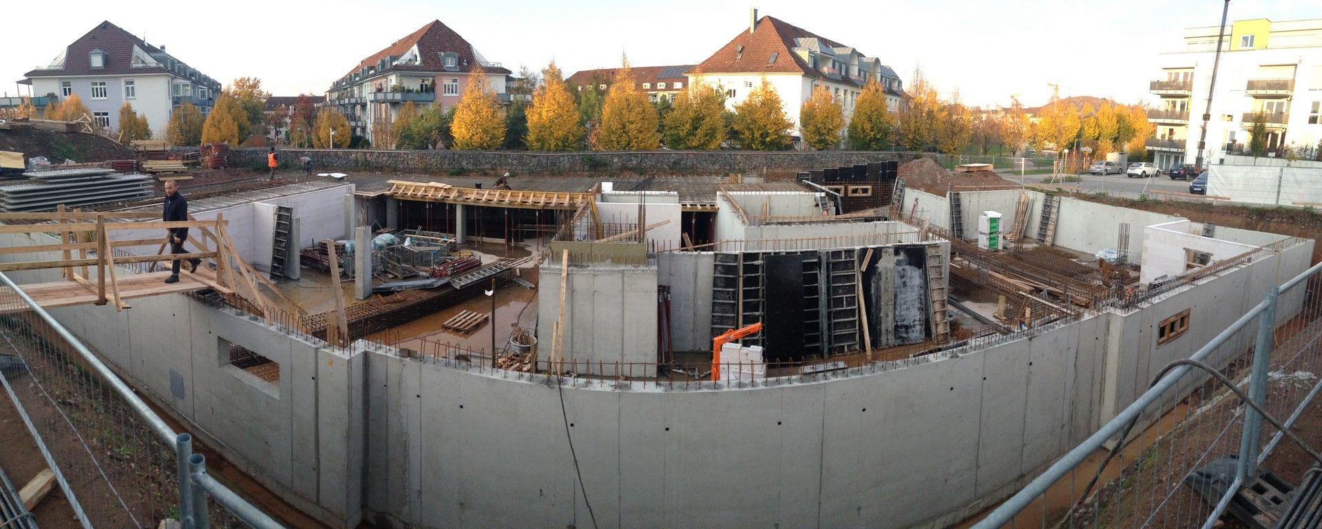 Bautenstand 06.11.2014 Aschaffenburg, Baubeginn, Bau