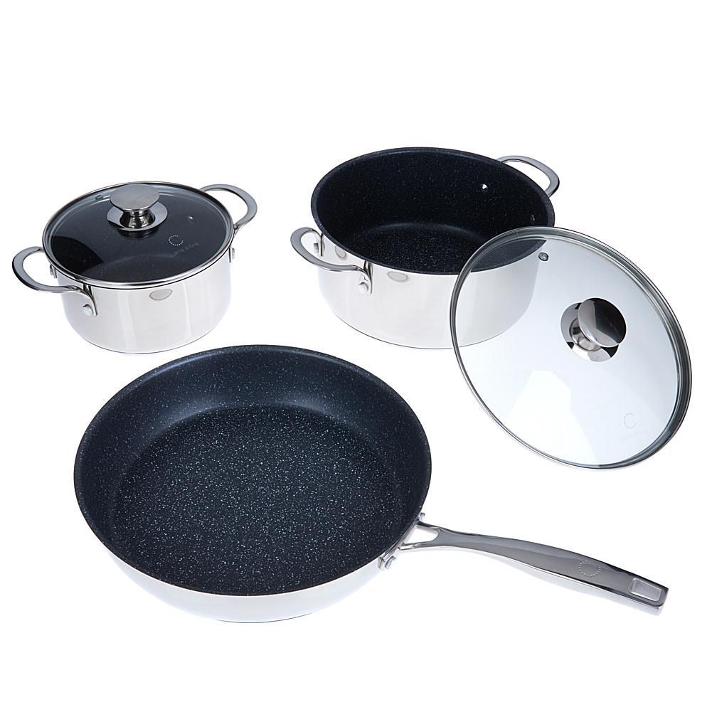 Curtis stone stainless steel durapan nonstick 5piece