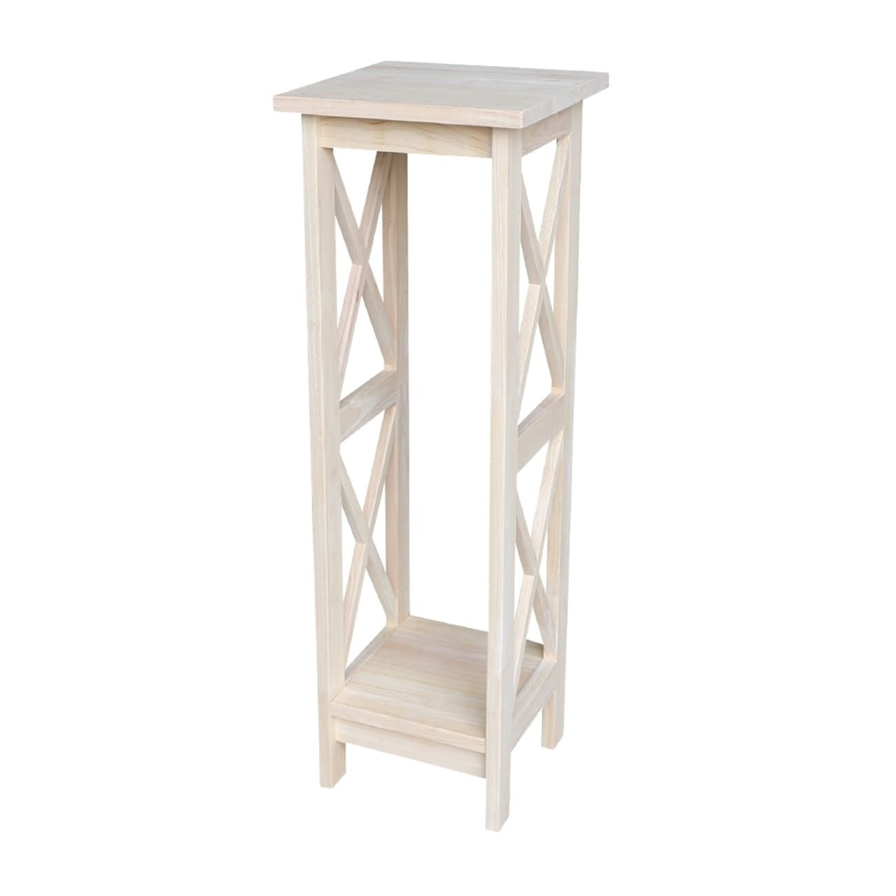 International Concepts 36 Inch X Sided Plant Stand Natural Wood Ot 3069x