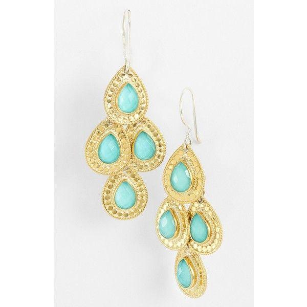 Women S Anna Beck Gili Teardrop Chandelier Earrings 270 Liked On Polyvore