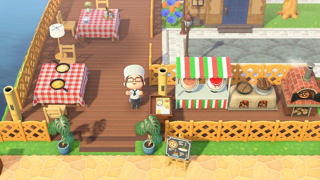 Finally Got Proper Tables With Tablecloths For My Italian Restaurant Animalcrossing Animal Crossing 3ds New Animal Crossing Animal Crossing Qr