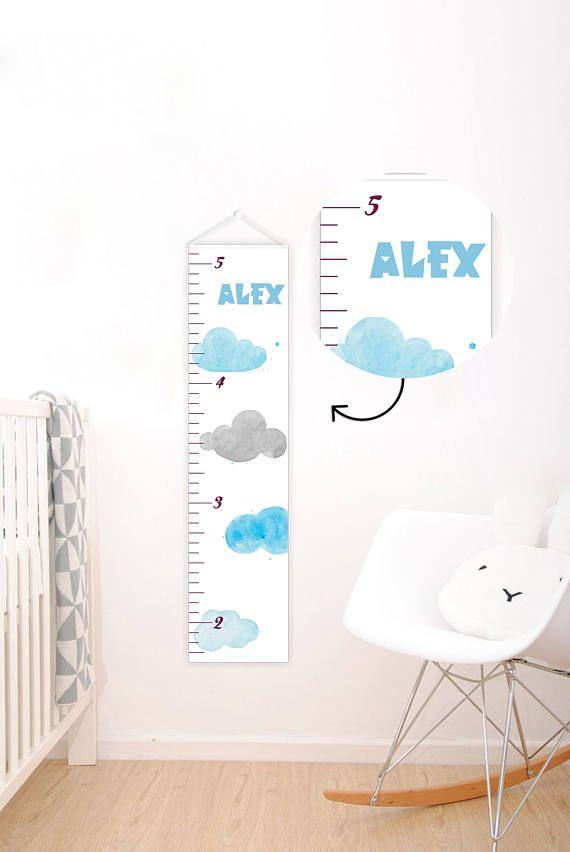Growth chart boy - Growth chart canvas - Kids height ruler - Height