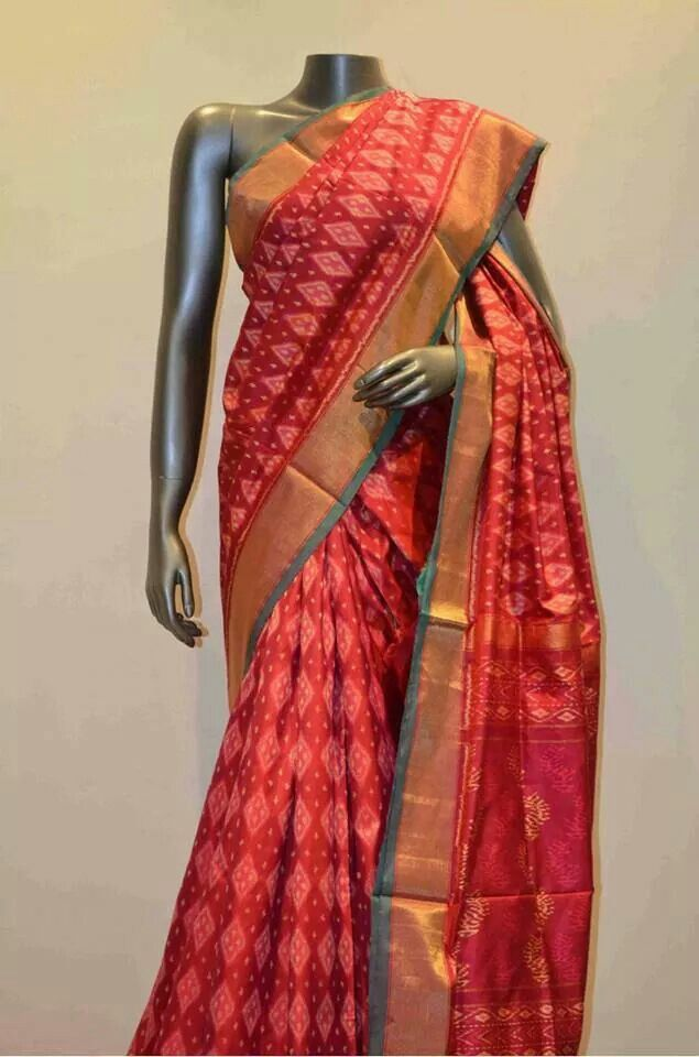 076e6e13943137 Pure silk patola saree | Ethnic Indian Sarees | Saree, Elegant saree ...