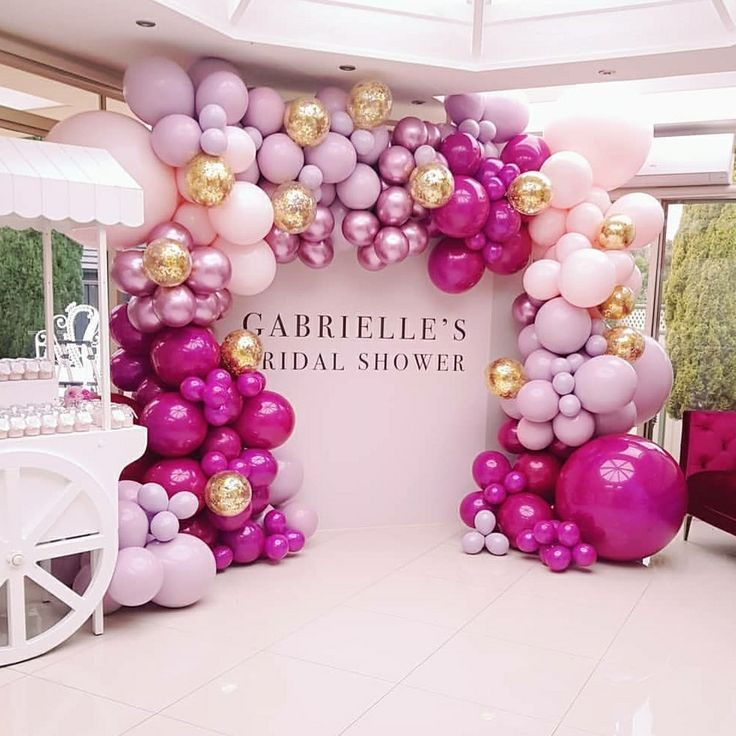 Balloon Garland Bridal Shower Ideas In 2018 Pinterest Party