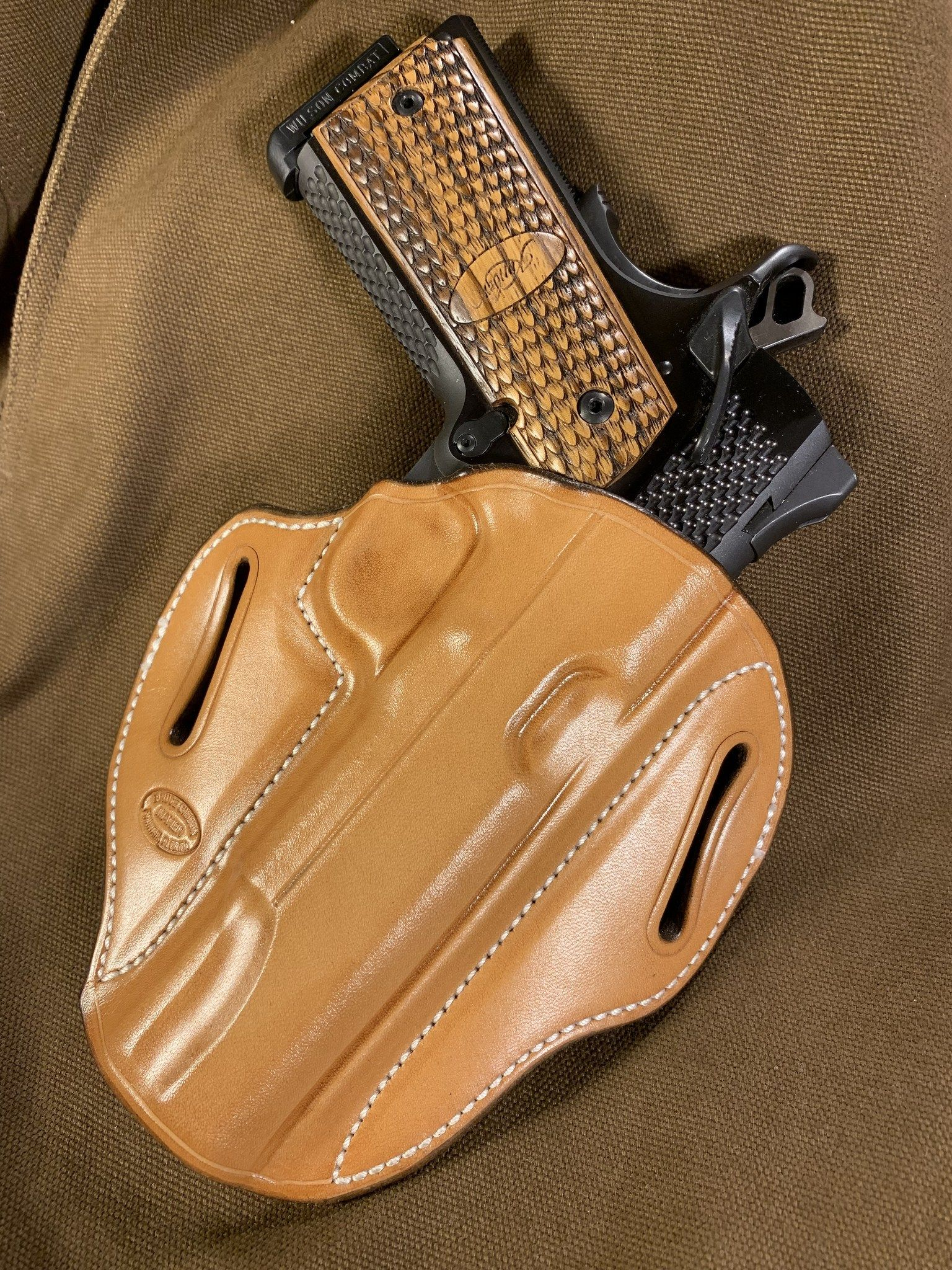 Gibson Natural 1911 5 Inch Full Size Right Hand Owb Belt Slide