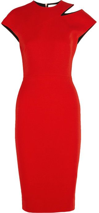 af9ecb71447 Victoria Beckham Cutout silk and wool-blend crepe dress on shopstyle ...
