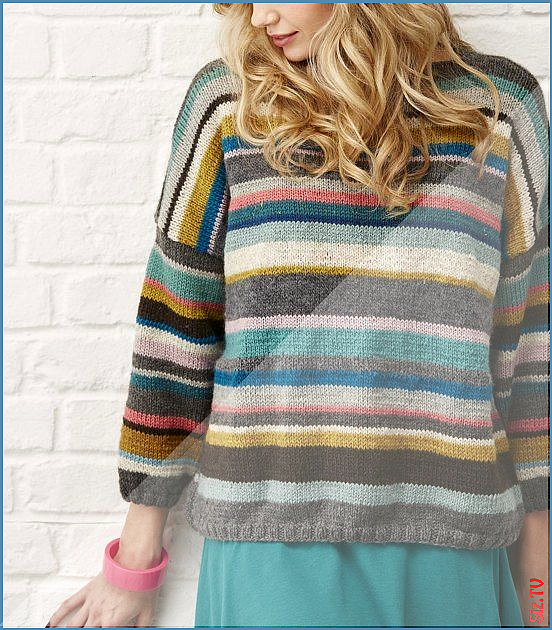 Stashbuster Sweater Knitting pattern by Rosee Woodland Stashbuster Sweater Knitting pattern by Rosee...