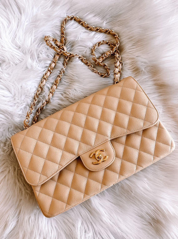 Chanel Jumbo Doble solapa Beige Clair |  Moda Jackson  – Bolsa