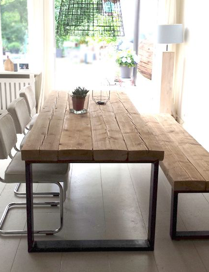 Mesa rustica de madera | DECO | Restaurant furniture, Home living ...