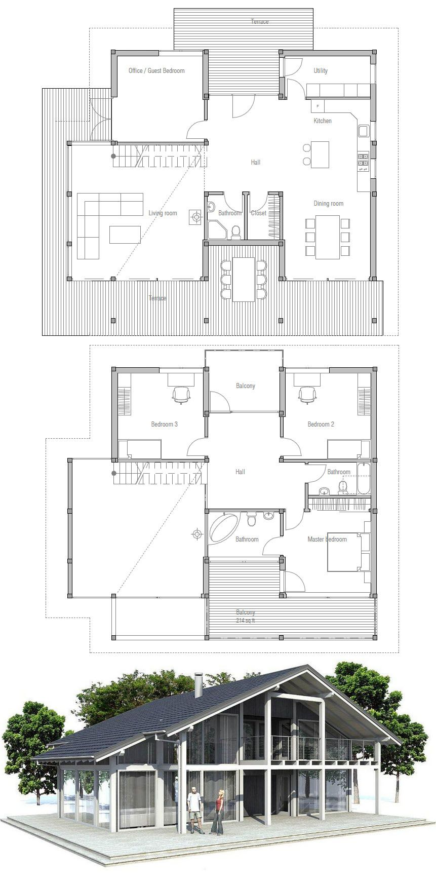 Floor plan with a chalet feel