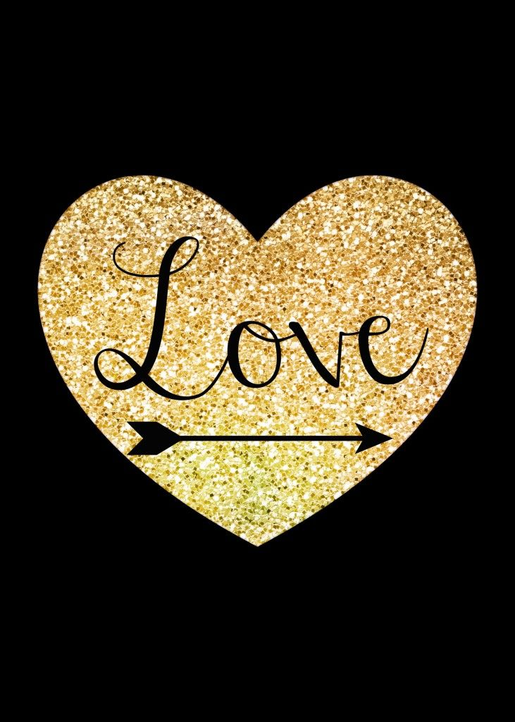 Golden Hearts Seamless Pattern Gold Glitter Stock Vector 389965147 ...