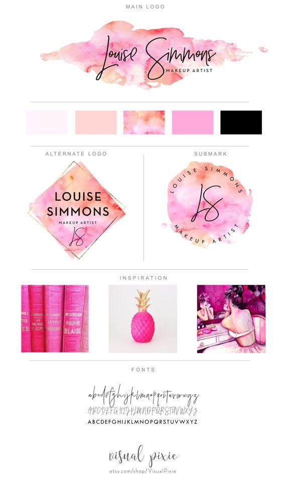 Branding Package Photography Logo Makeup Artist Logo Orange