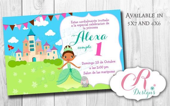 Digital Invitation en 5x7 o 4x6 Royal Princess por SweetDesignsCR