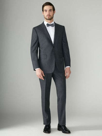 Martin Greenfield | Wool flannel Suit... love bowties!