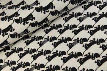 Teckeltjes Tricot Zwart / Wit