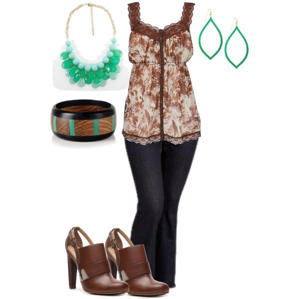 plus size outfit, created by penny-martin on Polyvore- I would prefer a different color top.