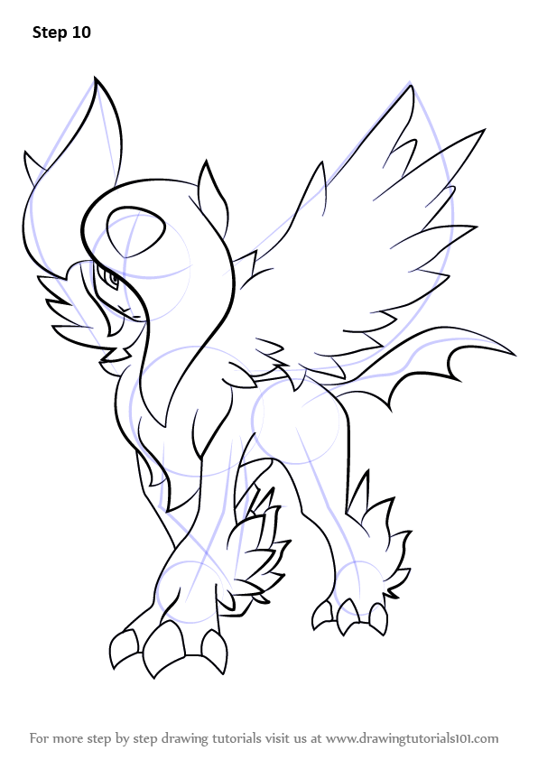 Learn How To Draw Mega Absol From Pokemon Pokemon Step By Step Drawing Tutorials Pokemon Drawings Drawings Horse Coloring Pages
