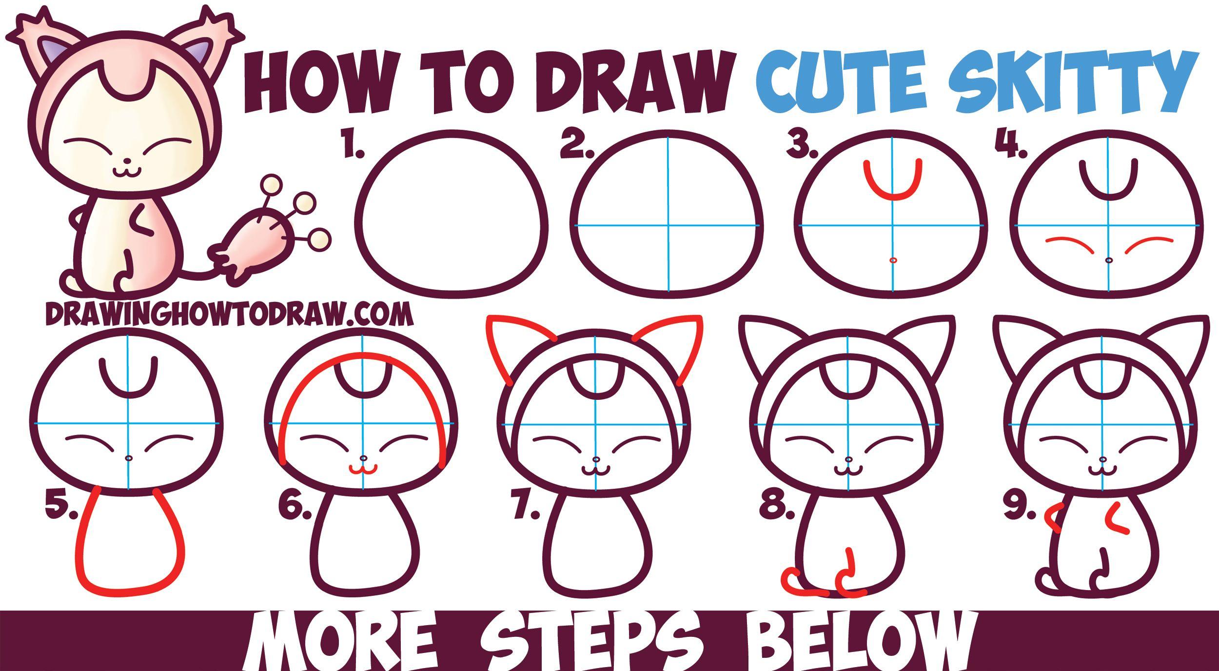 How To Draw Cute Kawaii Chibi Skitty From Pokemon In