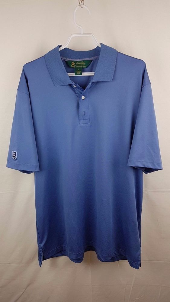 0cc2da04f4 Brooks Brothers St. Andrews Links Golf Polo Shirt Size XL Blue ...