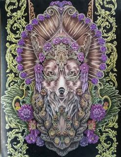 Mijn Blog: Beauty Fox Drawning : Bennett Klein Colord by : Kleurvitality