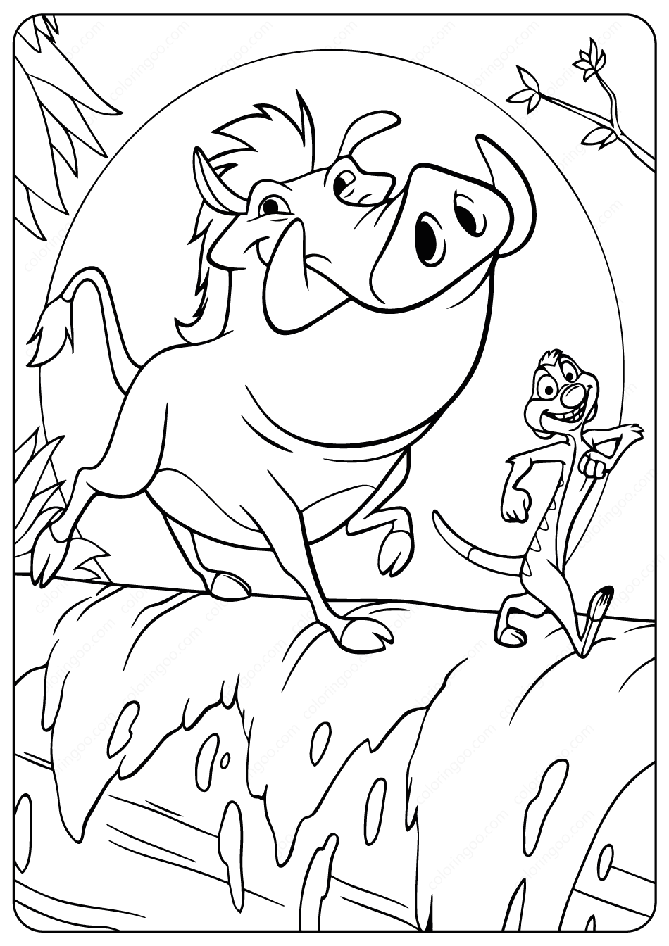 The Lion King Timon And Pumbaa Coloring Pages I 2020