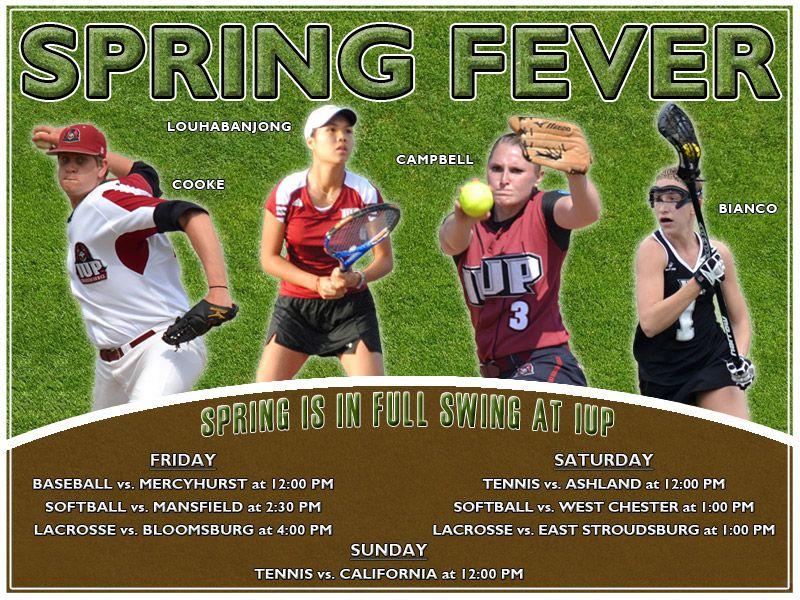 Spring fever at iup 33041 indiana university of