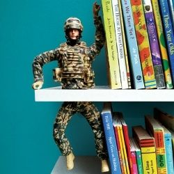 Why didn't I think of this before?! Really clever idea for bookends!