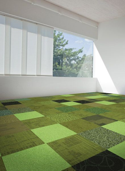 Green interface carpet tiles collection for floors for for Grass carpet tiles
