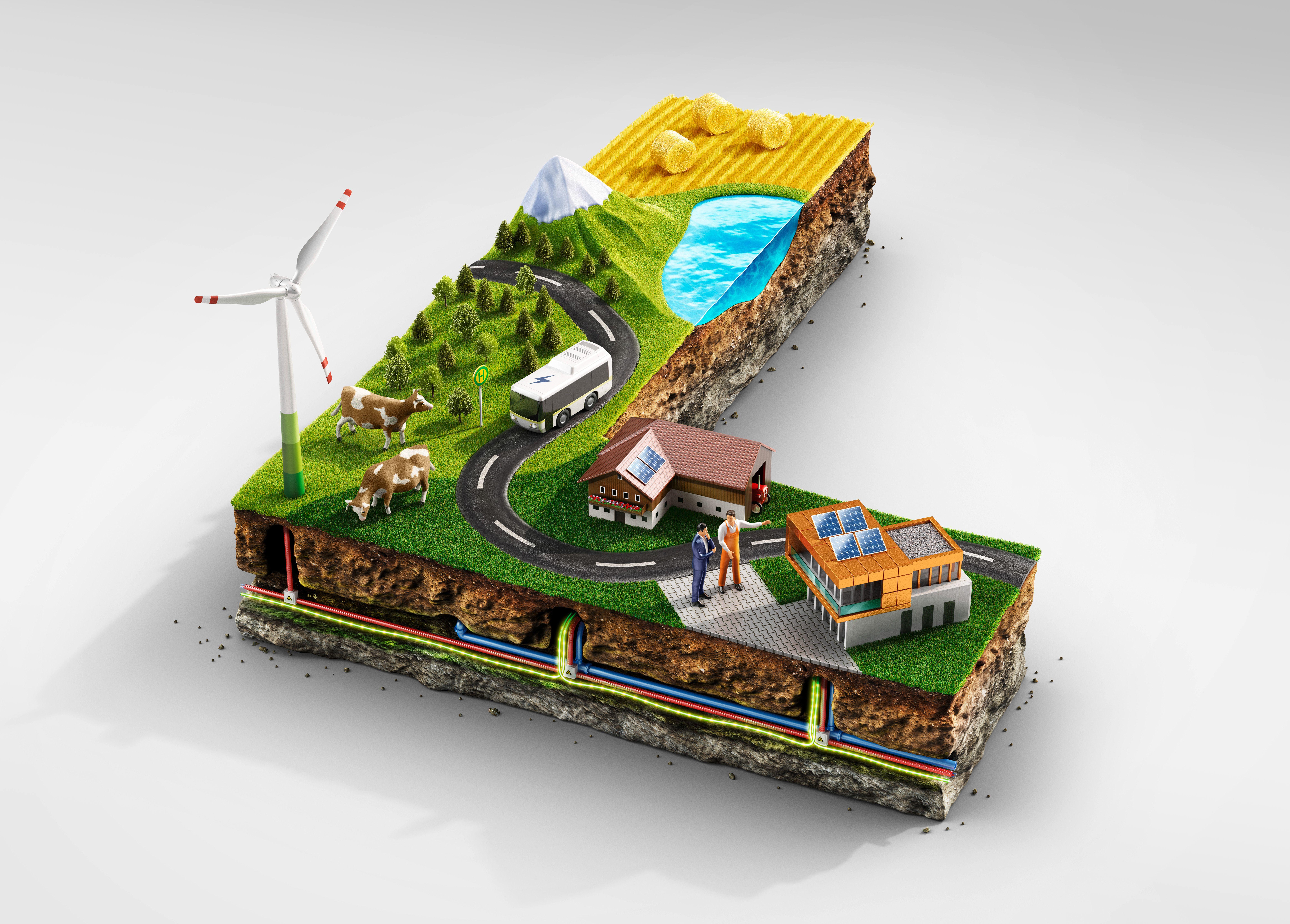 """Check out this Behance project """"Miniature Landscape L"""