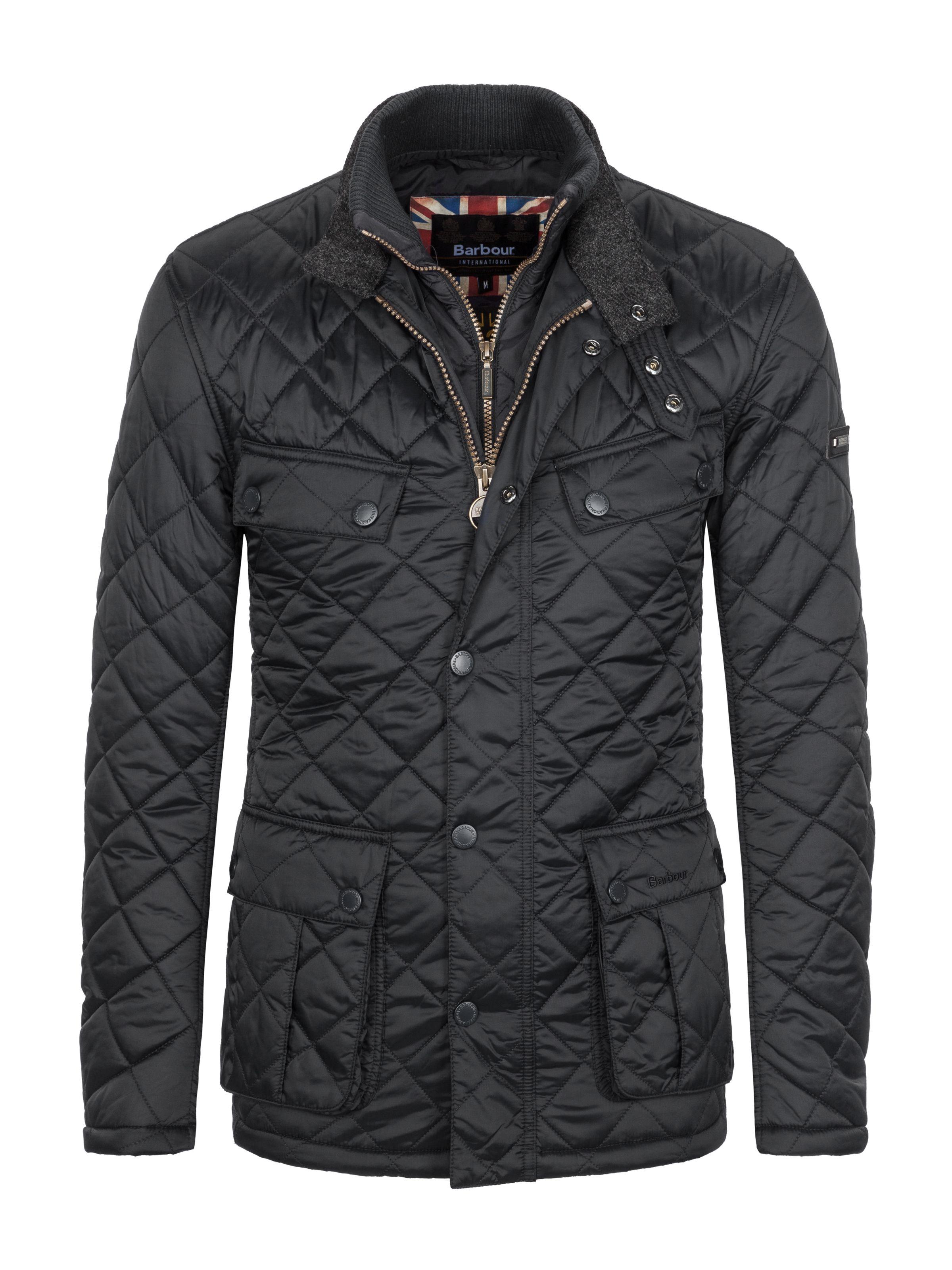 Barbour International Modische Steppjacke Windshield Schwarz Hirmer Herrenmode Sale Hirmer Munchen Quilted Jacket Men Men S Coats And Jackets Stylish Men