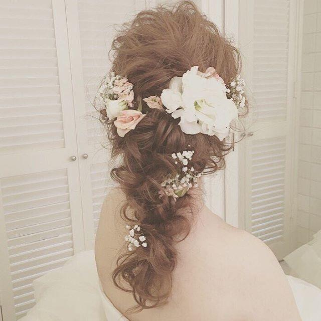 Hair Makeは ずっと憧れだった Satomihmd さん これはビーチでしてもらったhairstyleです 今見てもキュン 全てのシチュエーションにおいて 可愛い髪型にしてもらえて 幸せでした Hawaiiwedding Wedding Weddi 袴 ヘアアレンジ ブライダル 髪型 可愛い髪型