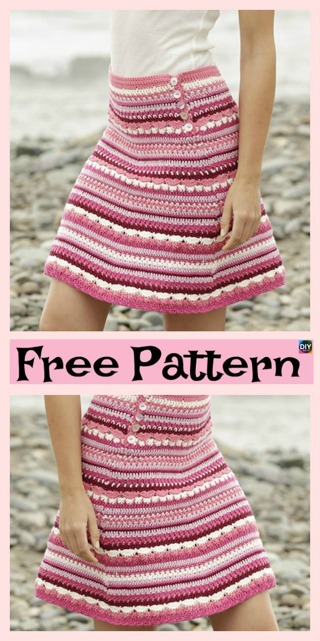 Photo of 8 Beautiful Crochet Summer Skirt Free Patterns