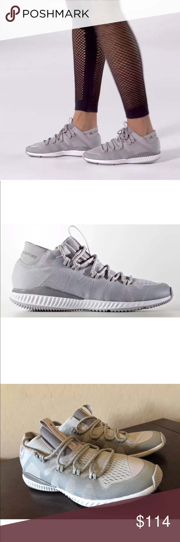 019dc1f48efb8 Women s Adidas By Stella Mccartney Crazytrain ADIDAS CRAZYTRAIN BOUNCE MID  SHOES WOMEN S SIZE 8 US COLOR  Universe   Mystery   Cloud White Push harder  and ...