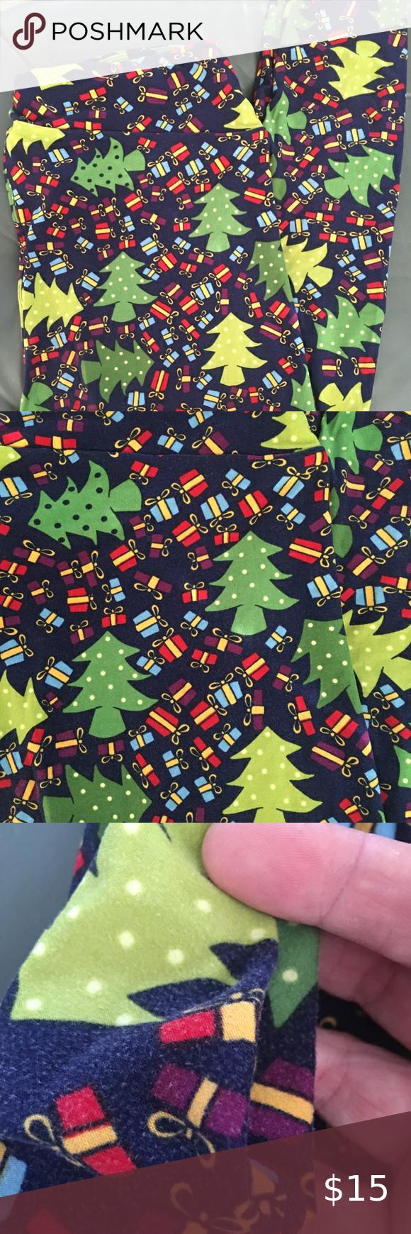 COPY   Lularoe Christmas Tree Presents Leggings T… in 2020
