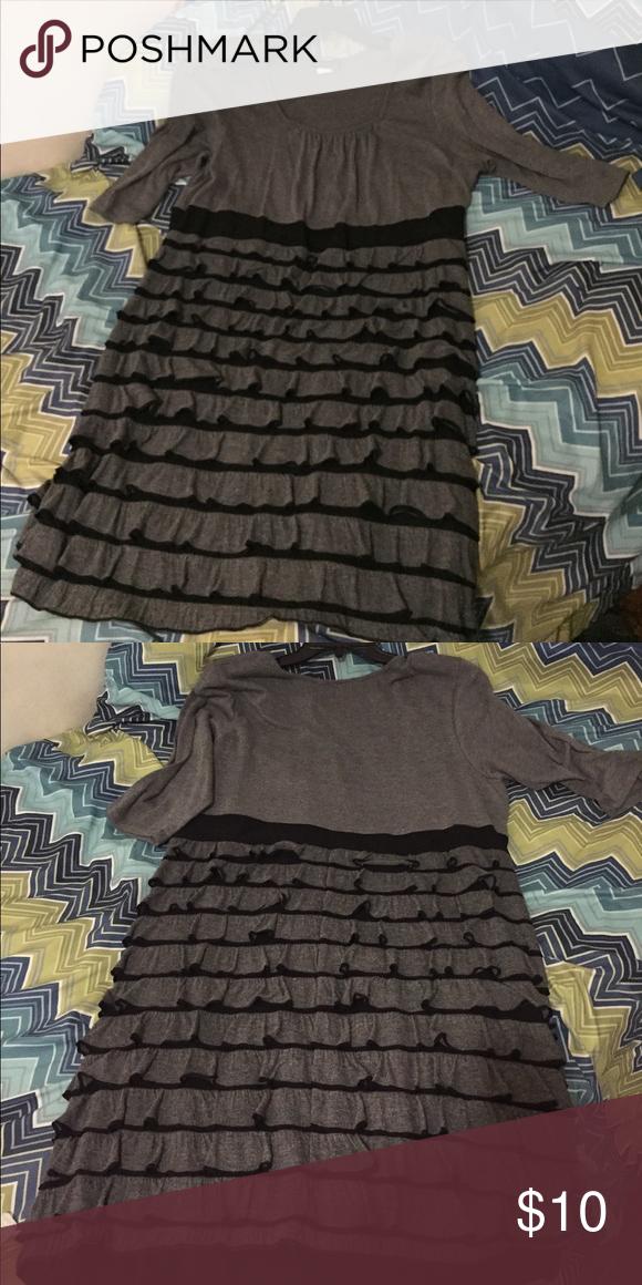 Janeric Woman Dress 2X Black and Gray Black and Gray Dress 3/4 sleeve 2X. Smoke free! Pet free! janeric Dresses Midi