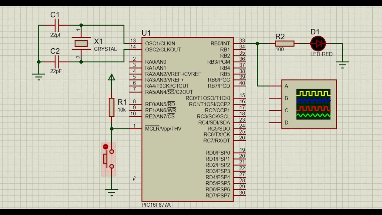 Part 2: Generate PWM (Pulse Width Modulation) on a PIN of PIC16F877A