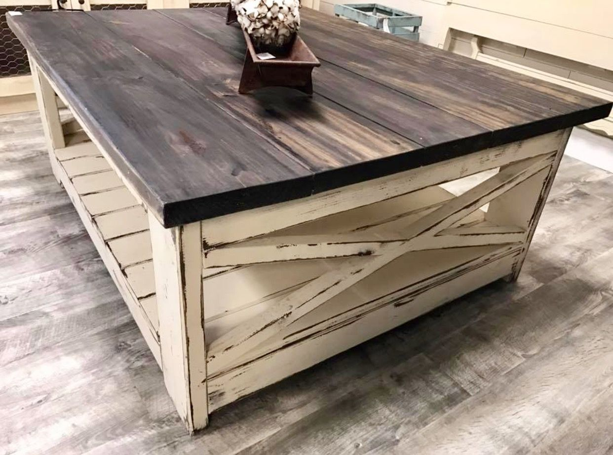 The Little Bird Custom Painted Farm Barn Style Coffee Table