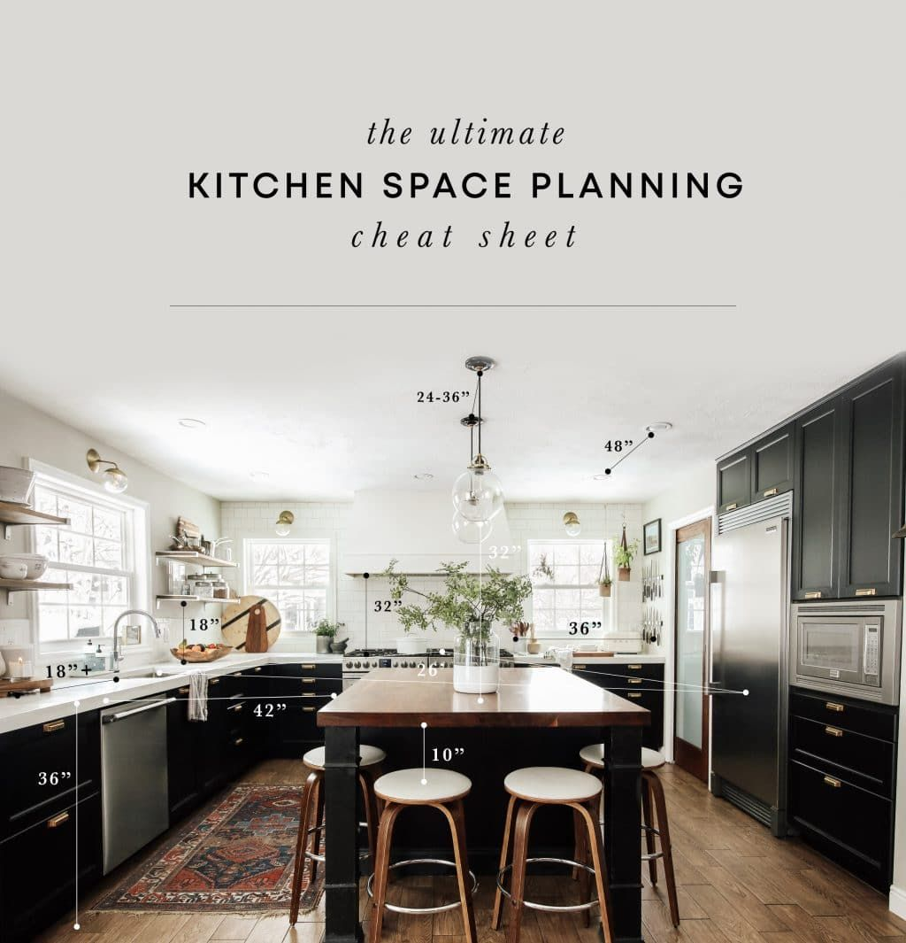 The Ultimate Kitchen Space Planning Cheat Sheet Kitchen Plans Kitchen Space Kitchen Design