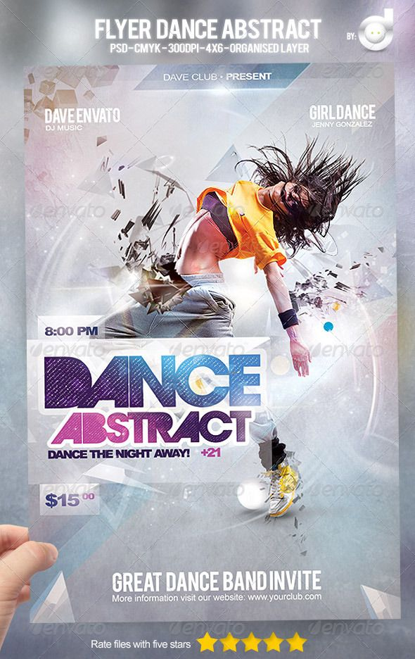 Flyer Dance Abstract | Dancing, Font arial and Template