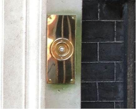 Lovely old oversized brass doorbell