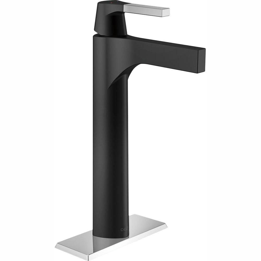Delta Zura Single Hole Single Handle Vessel Bathroom Faucet In