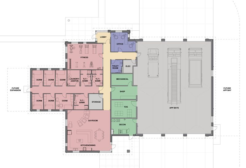 Fire Station Plan Fire Station Site Plan House Fire
