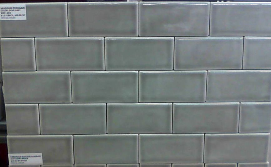 Dove Grey Hand Made Porcelain Subway Tiles Available At Tile For Less Seattle