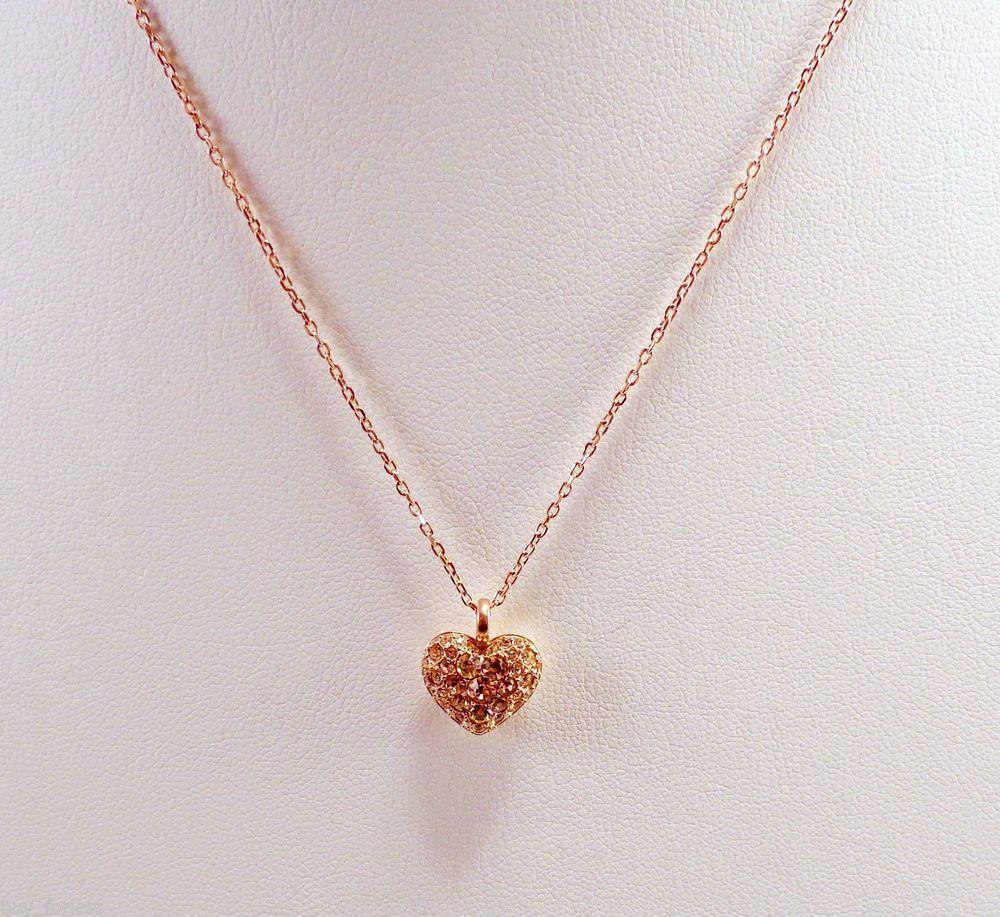 New fossil womens glitz heart pendant rose gold tone necklace new fossil womens glitz heart pendant rose gold tone necklace jf01156791 mozeypictures Gallery